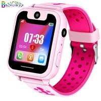 LIGE gran oferta reloj de teléfono para niños LBS posicionamiento control remoto iluminación SOS chico Smart Watch voz Chat tarjeta SIM Cámara + caja
