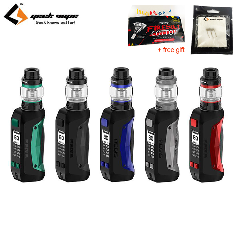 Free Gift Geekvape Aegis mini kit Electronic Cigarette Waterproof 2200mAh 80W Battery with 5 5ml Cerberus