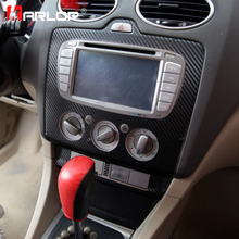 Car Interior Central Control Panel Outlet Stickers Carbon Fiber Decal Automobile Styling For Ford Focus 2 MK2 Car Accessories