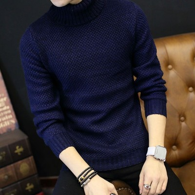 Pure Color Cashmere Winter Sweater Men's Turtleneck Knitted Sweaters Pullover Men Jumper Warm 2017 Oversized Loose Male Sweater