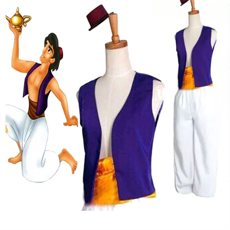 Adult children Aladdin's lamp jasmine costume dresses in prince costumes for the Halloween party belly dance dress
