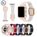 HOCO Modern Buckle Band for Apple Watch Strap Belt Top-grain Leather Bracelet with Magnetic Closure w + Case Cover For iWatch