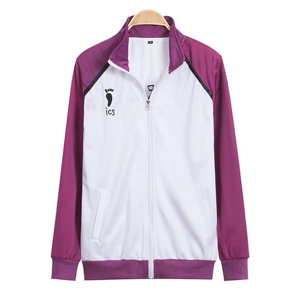 Haikyuu!! Shiratorizawa Gakuen Koukou School Uniforms Cosplay Costume Wakatoshi Ushijima Jersey Sprotswear ( Jacket + Pants )