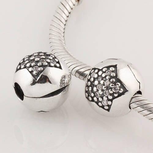 100% 925 Sterling Silber Sperre Clip Charm Perle, Schmuck Passt Für Armband Heißer Verkauf Mode Diy Machen Ckk QualitäT Und QuantitäT Gesichert