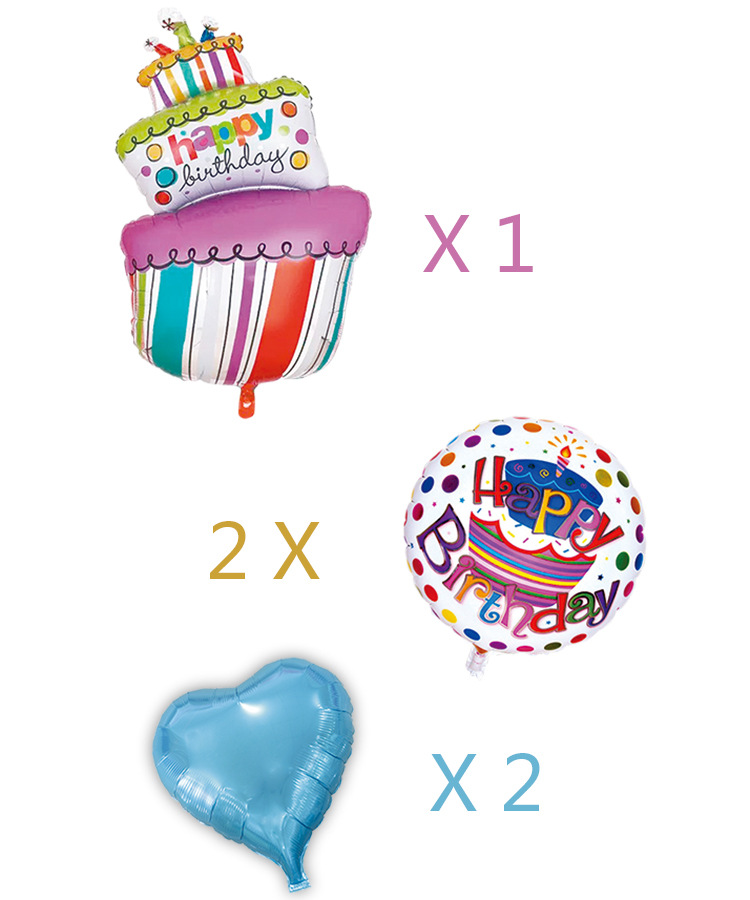 5pcs/lot birthday balloons Balloons Happy birthday candy princess balloon (not include the stander and ribbon)