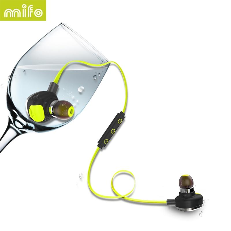 mifo U5 PLUS Waterproof IPX7 Headset Sweat-proof Bluetooth Earphones Stereo Microphone HiFi Magnetic NFC Long Working Time