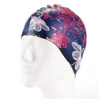 Schwimmbad Professionelle Sport Caps Für Frauen Silikon Wasserdichte Badebekleidung Blumenmuster Weiche Weibliche Hüte Kostenloser Versand