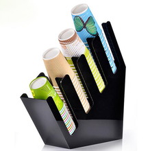 Sucker straw spoon paper cup tissue collection holder container bar store shop cashier counter desk shelf