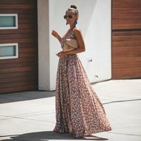 Floral Dress 2019 Women Summer Casual Beach Bohemian Dress Sexy Fashion Print Maxi Dress