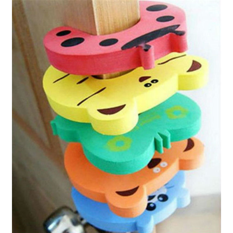 New 5pcs/lot Cartoon Animal Baby & Kids Toddler Child Safety Care Security Door Stopper Corner Protector Finger Guard Protection