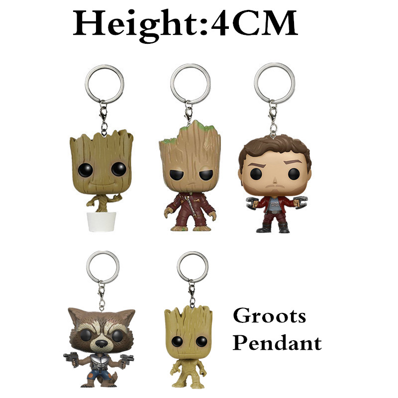 New Guardians Of the Galaxy 2 Dancing Groots Toy Star-Lord Rocket Vinyl Potted Bobble Head Tree Man Car Keychain Toys XD119 smc the new head of passing filter aff150a 40