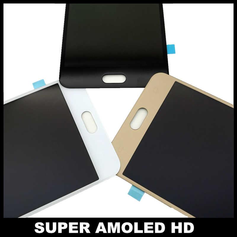 استبدال الهاتف شاشات lcd لسامسونج غالاكسي C7 C7000 SM-C7000 سوبر AMOLED عرض مجموعة المحولات الرقمية لشاشة تعمل بلمس الأبيض/أسود/الذهب