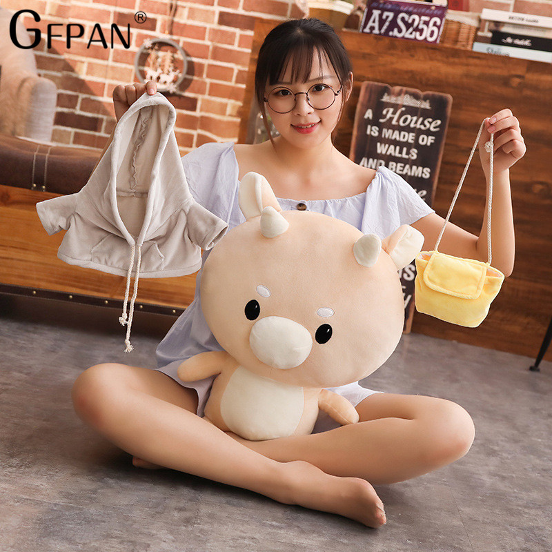 30/60cm Kawaii Korean Jin Secretary Hard Cattle Stuffed Soft Plush Cartoon Toy Birthday Gift For kids Brinquedos
