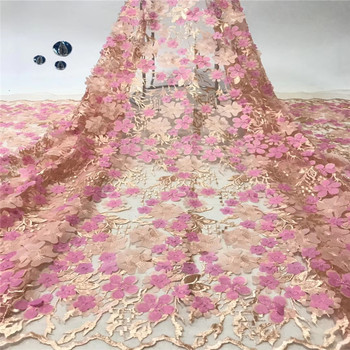 Madison French Net Lace Fabric 2019 High Quality Latest African Lace Fabric Embroidery Nigerian Tulle Lace Fabric