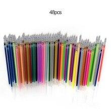 1,0 мм цветная гелевая ручка флуоресцентная заправка цветной картридж ручка для вспышки гладкие чернила граффити студенческие ручки канцелярские принадлежности