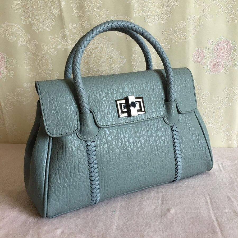 Prawdziwej skóry projektant Lady torebki wysokiej jakości znanych marek kobiet torebki skórzane druga warstwa skóry wołowej skórzane torby na ramię w Torby z uchwytem od Bagaże i torby na  Grupa 1