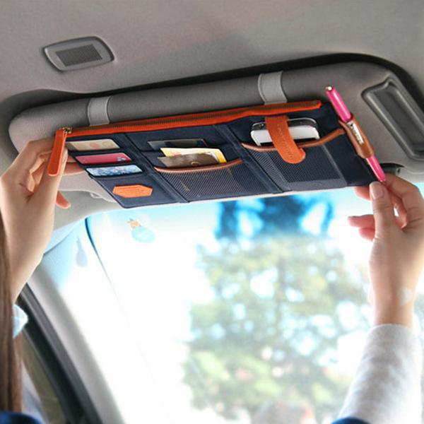 Multi-function Sun Visor Car Storage Holder Vehicle Pocket Organizer Sunshade