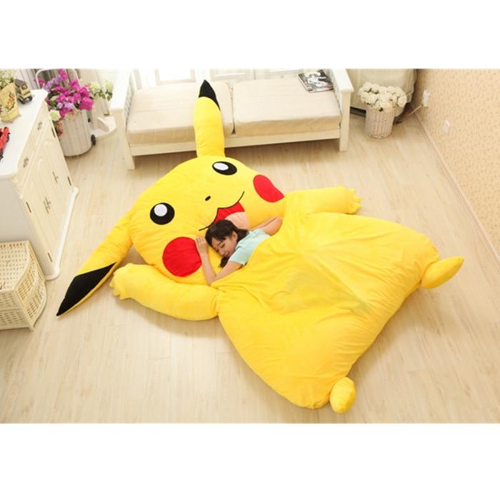 Anime Pokemon Pikachu Stuffed Large Cartoon Japanese Bed