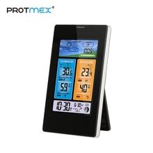 PROTMEX ترمومتر لاسلكي الرطوبة اللمس شاشة محطة الطقس ميزان الحرارة في الهواء الطلق توقعات الاستشعار ساعة