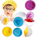 NEW 6 egg/set Learning Education Toys Kids Mixed Shape Wise Pretend Puzzle Smart Baby Kid Learning Education Toys Eggs Puzzle
