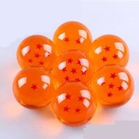 7 pz Dragon Ball sfere di cristallo 7 cm set Z figurativo 3D stella super grande sfera della resina di alta qualità Goku raccogliere il trasporto libero da DHL