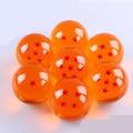 7 unids Dragon Ball bolas de cristal de 7 cm conjunto Z figura 3D estrella recoger Goku super gran bola de resina de alta calidad envío libre por DHL
