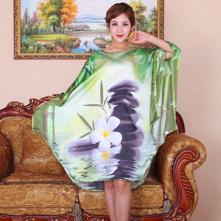 Desigual D'été 100 Taille Femmes Motif La Naturelle Fleur Satin Robe Maison Imprimé Nouveau Soie Pure Plus nAwq8AYU