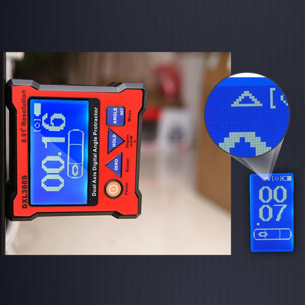 DXL360S цифровой датчик уровня двойная ось цифровая угломер с 5 боковой магнитной базой