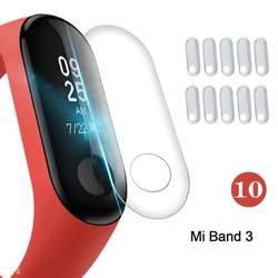 10 шт. экран протектор плёнки для Xiaomi Mi группа 3 Смарт Браслет полное покрытие защитный плёнки не закаленное стекло
