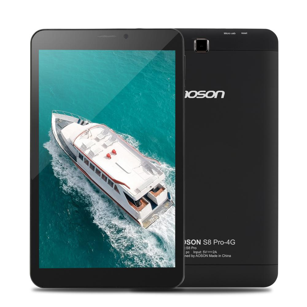 Aoson S8 PRO 8 inch tablet Android 6.0 4G Phone Call Tablets 16GB+1GB Quad Core MTK8735B Quad Core 1.3GHz SIM GPS WIFI Tablet Pc