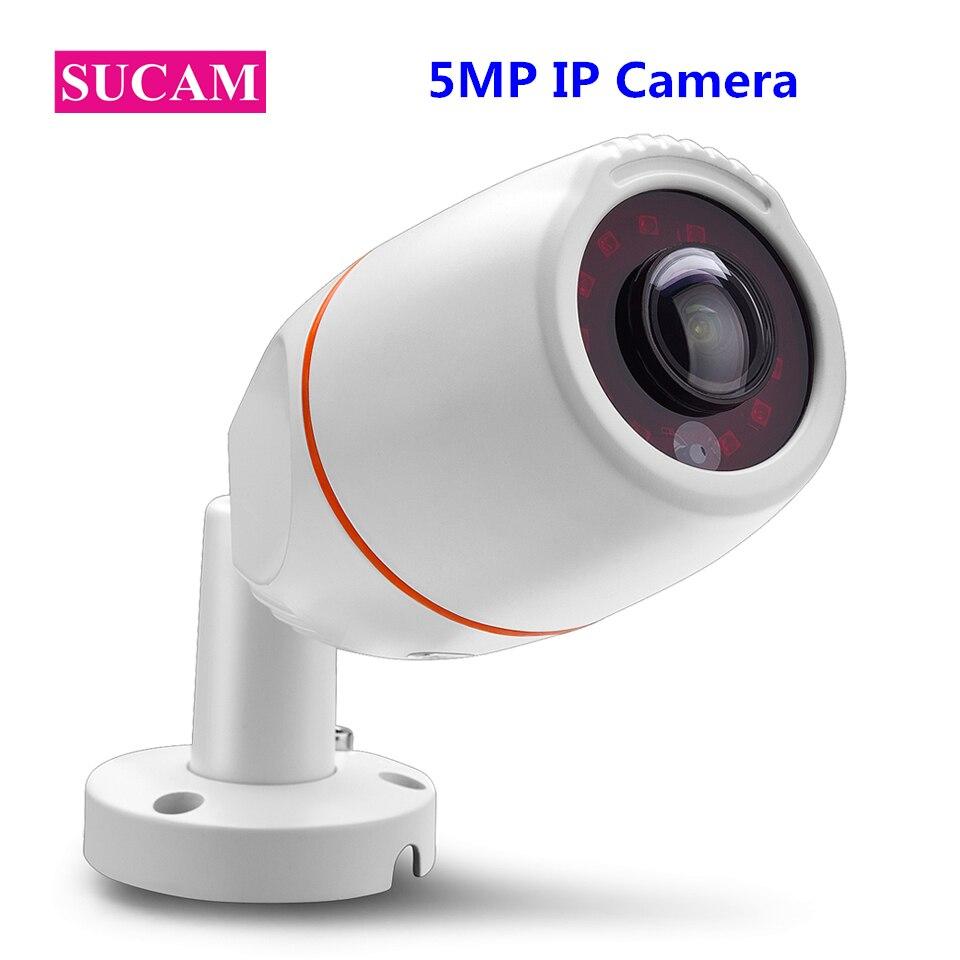 SUCAM Waterproof 5MP Fish Eye IP Camera 180 Degrees Wide Angle Bullet Waterproof CCTV IP Cameras