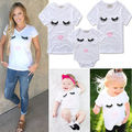 Family Eyes T-Shirts for mother and baby 2017  Newborn Infant Kids Baby Girl Romper T Shirts Jumpsuit Clothes Outfits