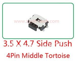 Image 1 - 10ピースモメンタリ触覚タクトプッシュボタンスイッチ電話サイドプッシュスイッチ4.7 × 3.5 × 1.67ミリメートル4ピンsmd