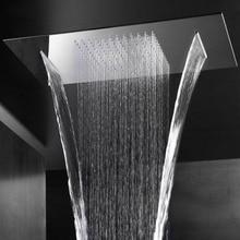 Большая насадка для душа, шлифованный водопад или зеркало, душевая панель, потолочное приспособление для ванной комнаты, аксессуары для душа, роза, экономия воды