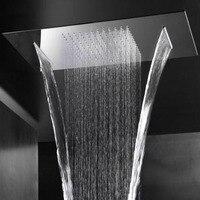 Большая душевая головка Водопад осадков матовая или зеркальная душевая панель потолочная ванная комната крепежные принадлежности Душ Роз