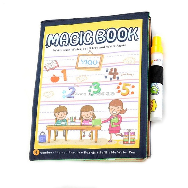 Kids Magic Paint Book With Water Drawing Pen Coloring Book Water ...