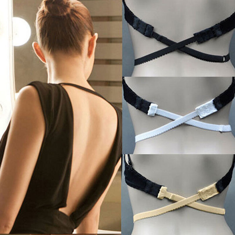 Hot Sale Low Back Backless Bra Strap Adapter Converter Fully Adjustable Extender Hook 3 Colors