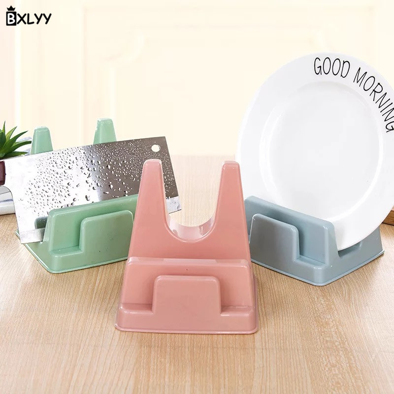 BXLYY Multi-function Plastic Knife Holder Pot Cover Cutting Board Rack With Water Tray Kitchen Accessories Kitchen Supplies.7z