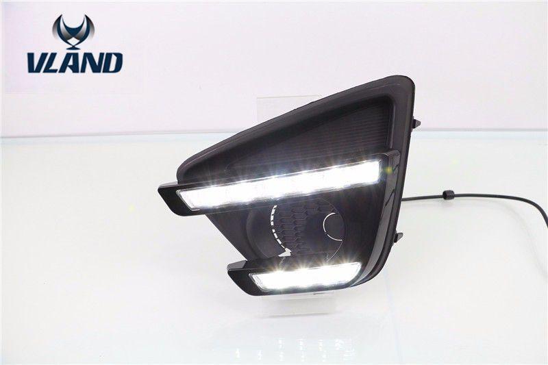Бесплатная доставка для 2012 2016 Мазда CX-5 DRL светодиодные дневные ходовые огни светодиодные фары с поворотник