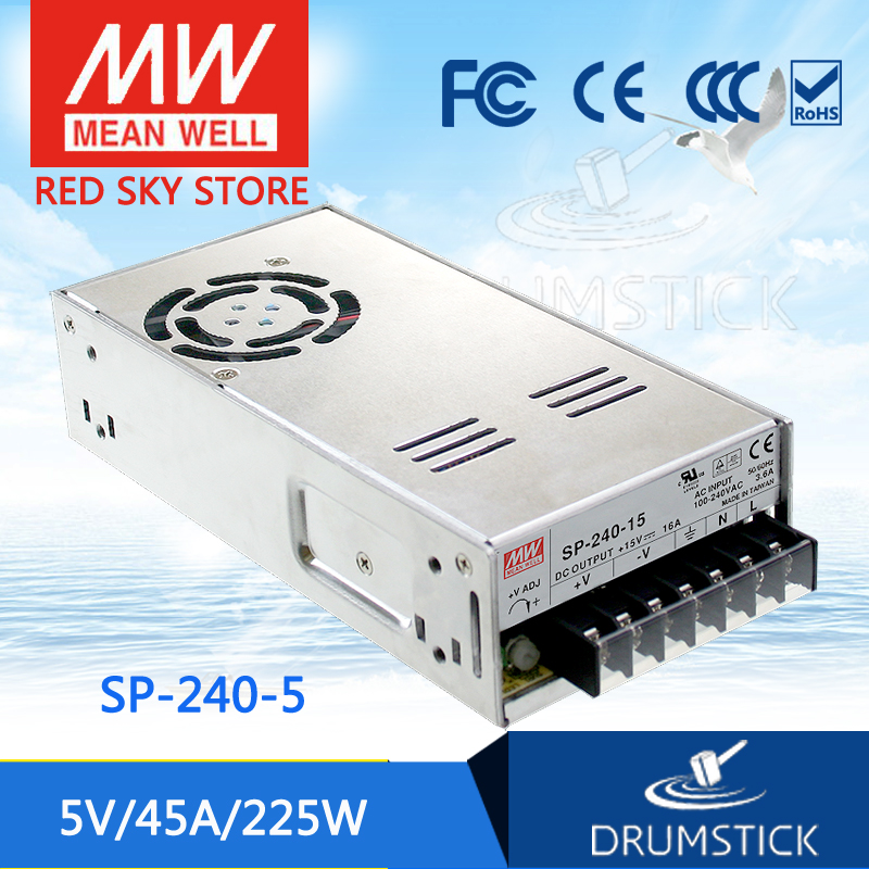 Advantages MEAN WELL SP-240-5 5V 45A meanwell SP-240 5V 225W Single Output with PFC Function Power Supply [Real6] meqix power 240