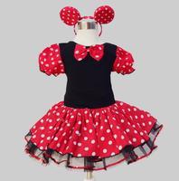 2018 Mùa Hè trẻ em Mới ăn mặc minnie chuột chúa đảng trang phục trẻ sơ sinh quần áo Polka dot quần áo trẻ em cô gái sinh nhật tutu dresse