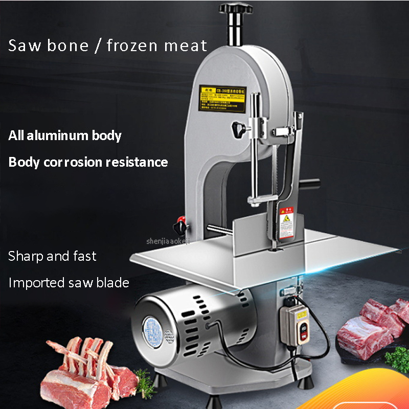 110V/220V Commercial Meat Slicer Bone Cutting Machine Large Table Electric Meat Saw Metal Desktop Professional Meat Cutting