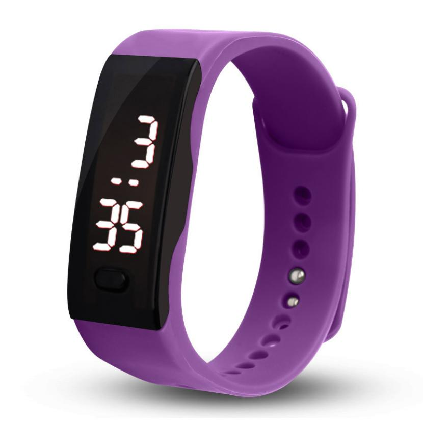 Fashion Men Women Silicone Band Digital Electronics Led Bracelet Wristwatch Sports Running Watches Relogio Masculino Dropship Lover's Watches