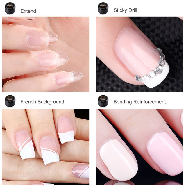 86106 GDCOCO Builder Gel 15ml Nail Art Natural Pink Clear Camouflage Color Extend Nail Gel 45g Finger Extension Nail Crystal Gel 5