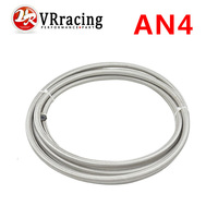 VR RACING 5meter AN4 Double braided Stainless steel Teflon Racing Hose Fuel Oil Line (ID:6MM,OD:11MM) 5mVR7511