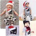 Рождество Хэллоуин 2016 Baby Дети Boy Девушки Рождественские Костюмы Бэтмен футболка + Брюки 2 шт. наборы одежда младенца