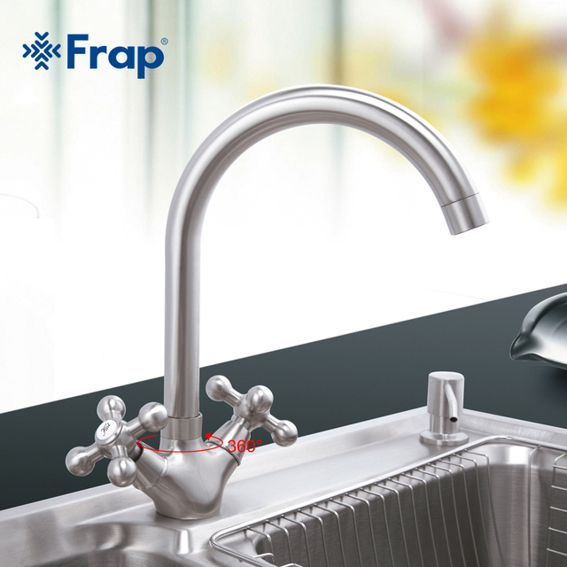 Frap 1set High Quality Kitchen Sink Faucet Zinc Alloy Kitchen Mixer