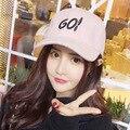 IR letras gorra de Béisbol Otoño y el invierno cálido de lana hip-hop sombrero de la Marea de las mujeres de ocio tapa shade