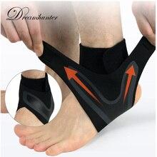 1 шт. компрессионная защита лодыжки против растяжения на открытом воздухе Баскетбол Футбол фиксатор лодыжки поддерживает ремни повязку обертывание ног безопасность