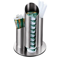New Stainless Steel Coffee Creamer Mate Sugar Straw Toothpick Container Holding Shelf Case Coffee Tea Shop